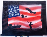 USA 105 Spray Paint on Canvas