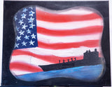 USA 106 Spray Paint on Canvas