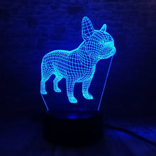 Load image into Gallery viewer, 3D Awesome French Bulldog LED Lamp