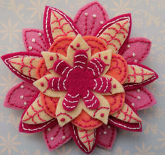 hand embroidered flower pattern