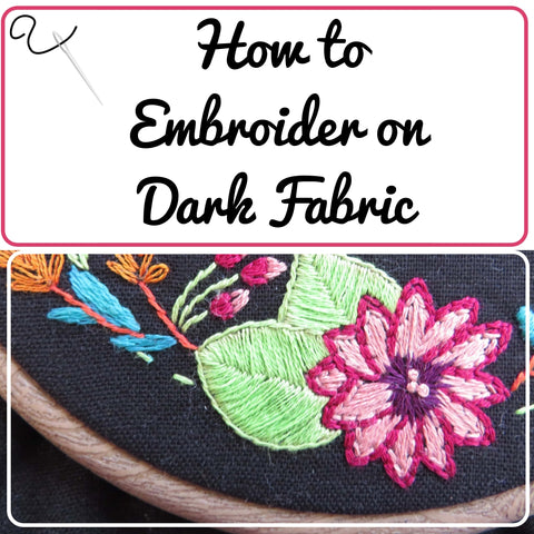 embroidering on dark fabric