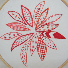 Poinsettia embroidery pattern