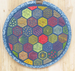 Hexagon Hand embroidery pattern