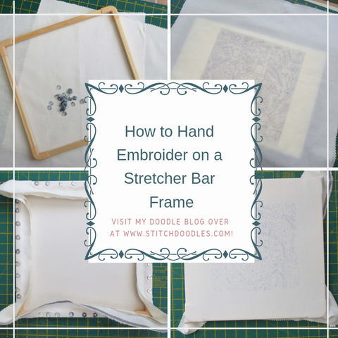 how to embroider with stretcher bar frames
