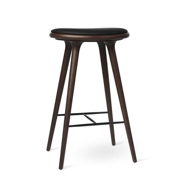 High Stool | Dark stained beech | Bar