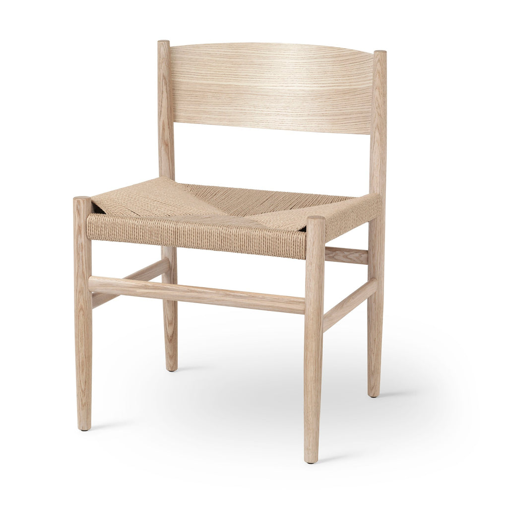 Nestor Chair | Matt laquered Oak | Paper Cord Seat