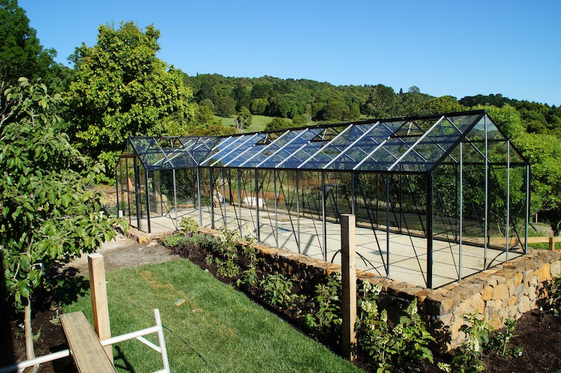 Grow-Fresh Greenhouses- Grandiose Orangery With Extensions Right Side- Glass (Black)