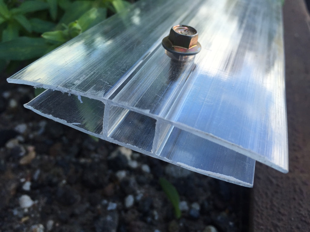 Grow-Fresh Greenhouses- 6mm Polycarbonate H-Section Joiners