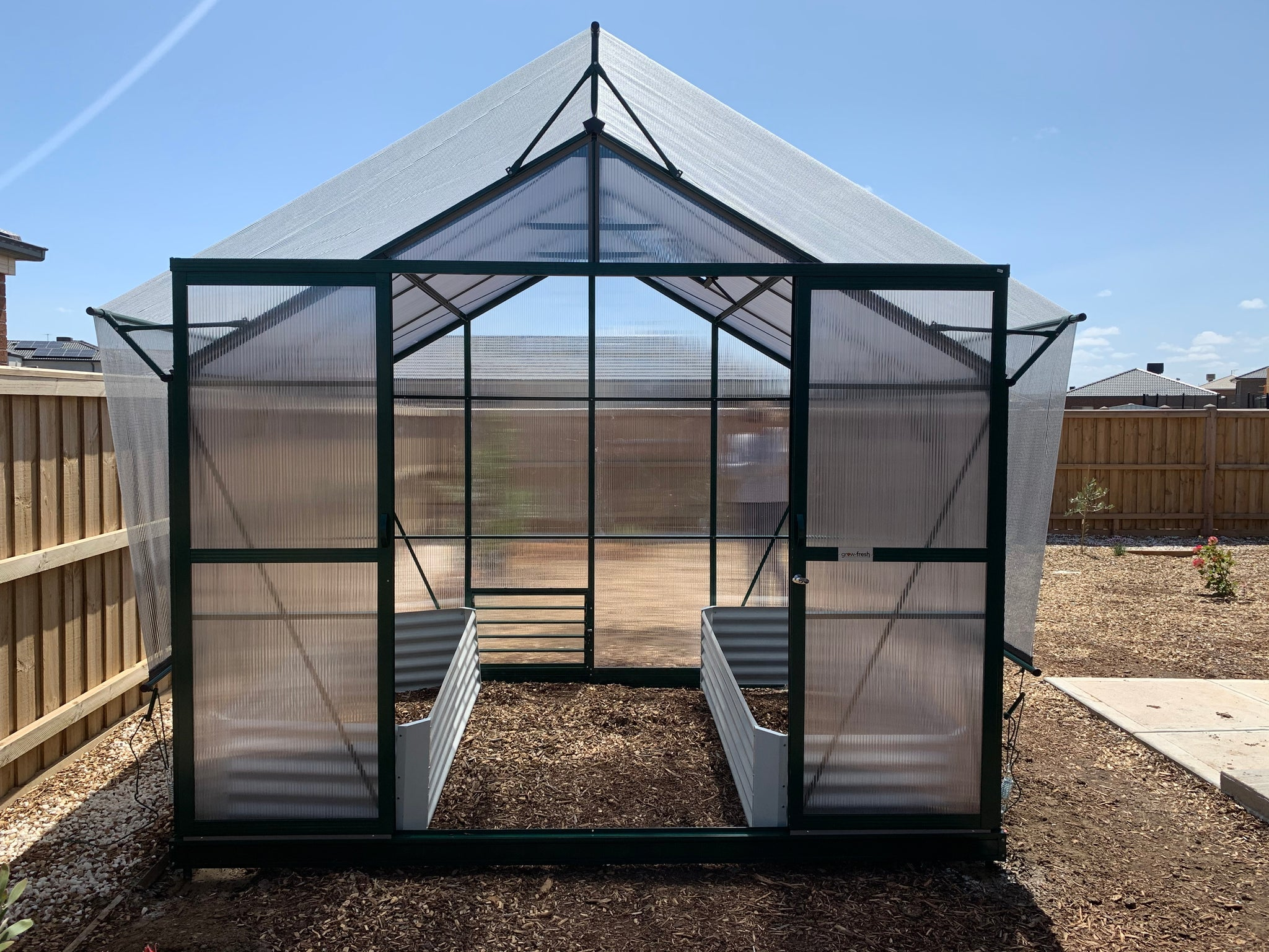 Grow-Fresh Greenhouses- Windsor Series Shade System, Greenhouse Shade, Greenhouse Cover, Aluminet Cloth