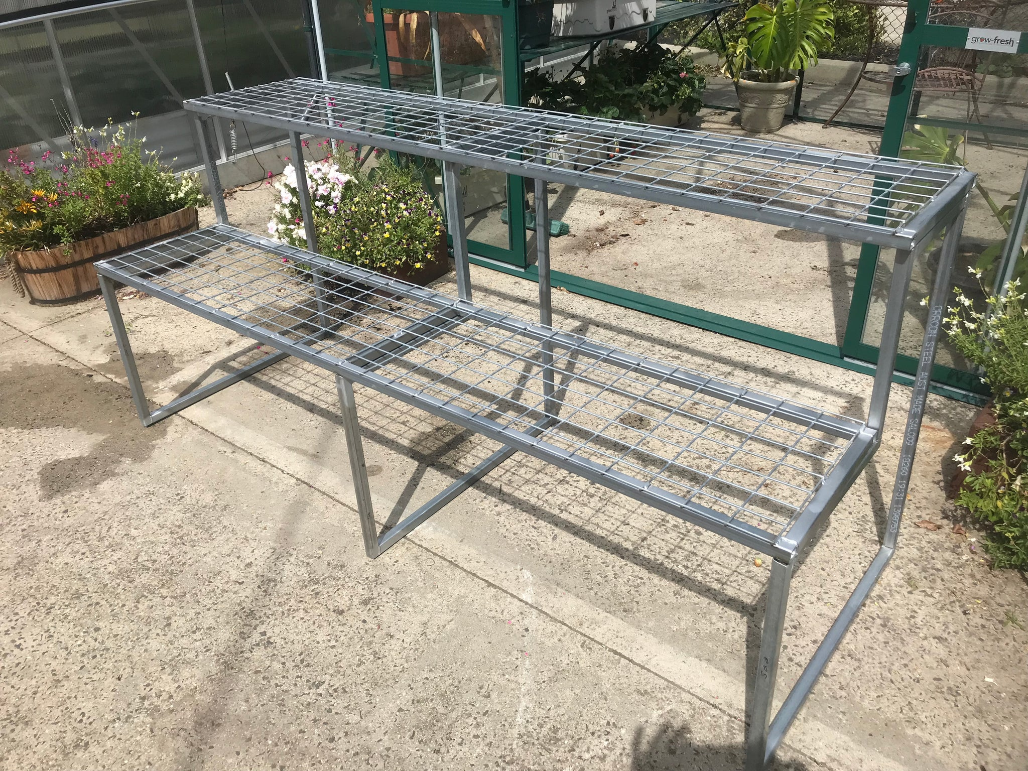 2-Tier Galvanised Mesh-Top Bench Kit