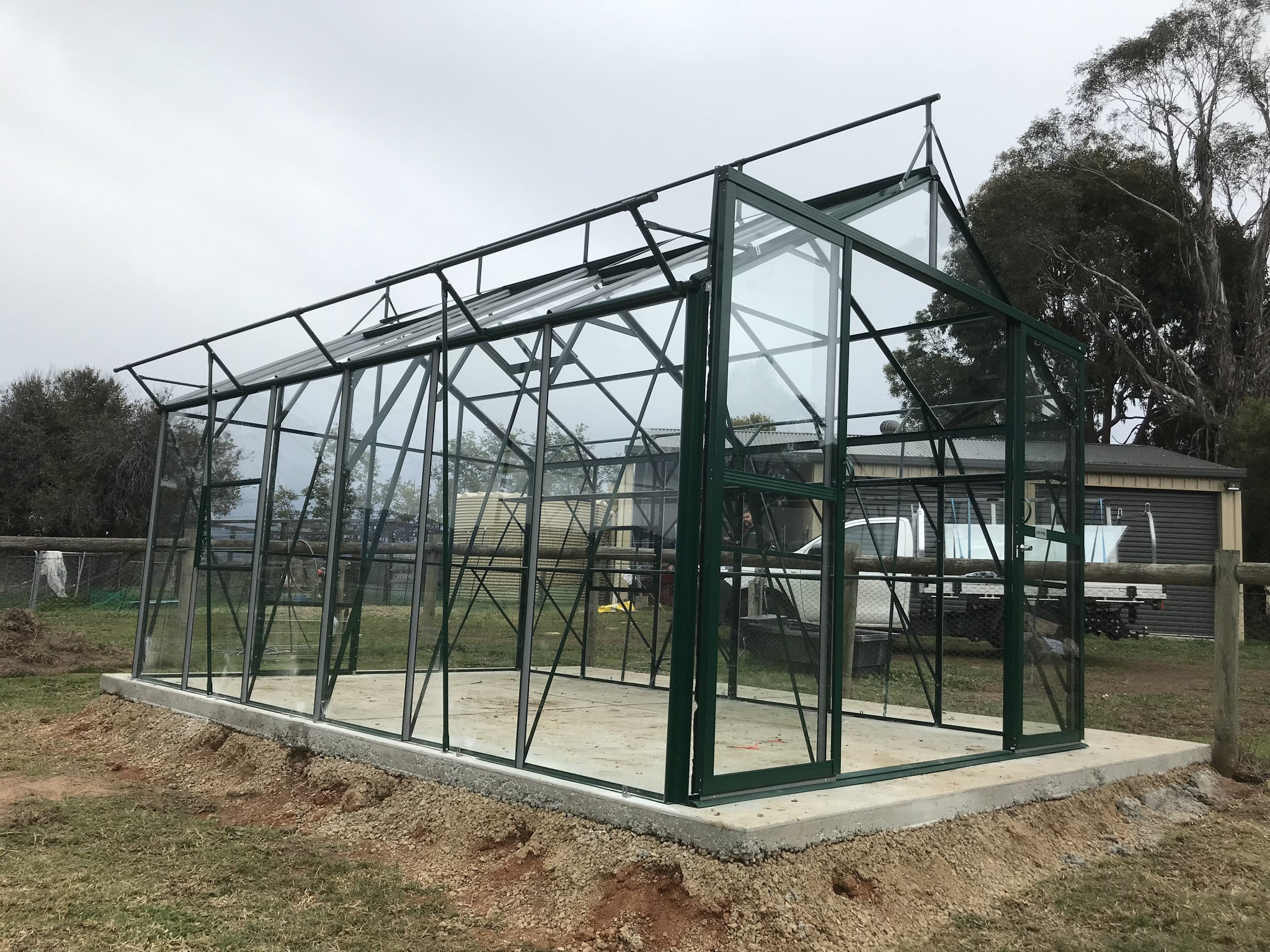 Grow-Fresh Greenhouses Windsor Junior 4500 Glasshouse (Green)