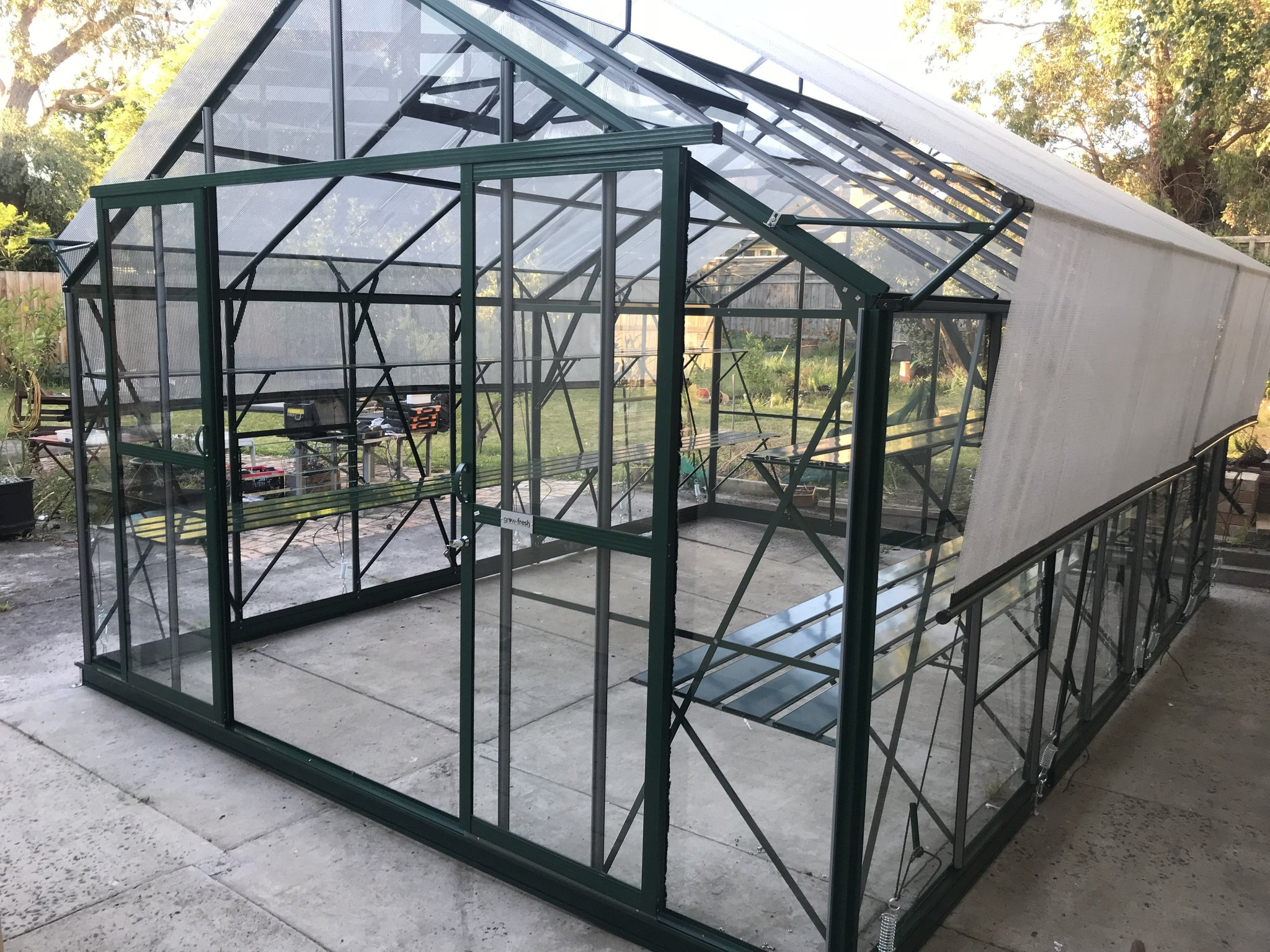 Grow-Fresh Greenhouses Windsor Royale 5200 Glasshouse (Green)