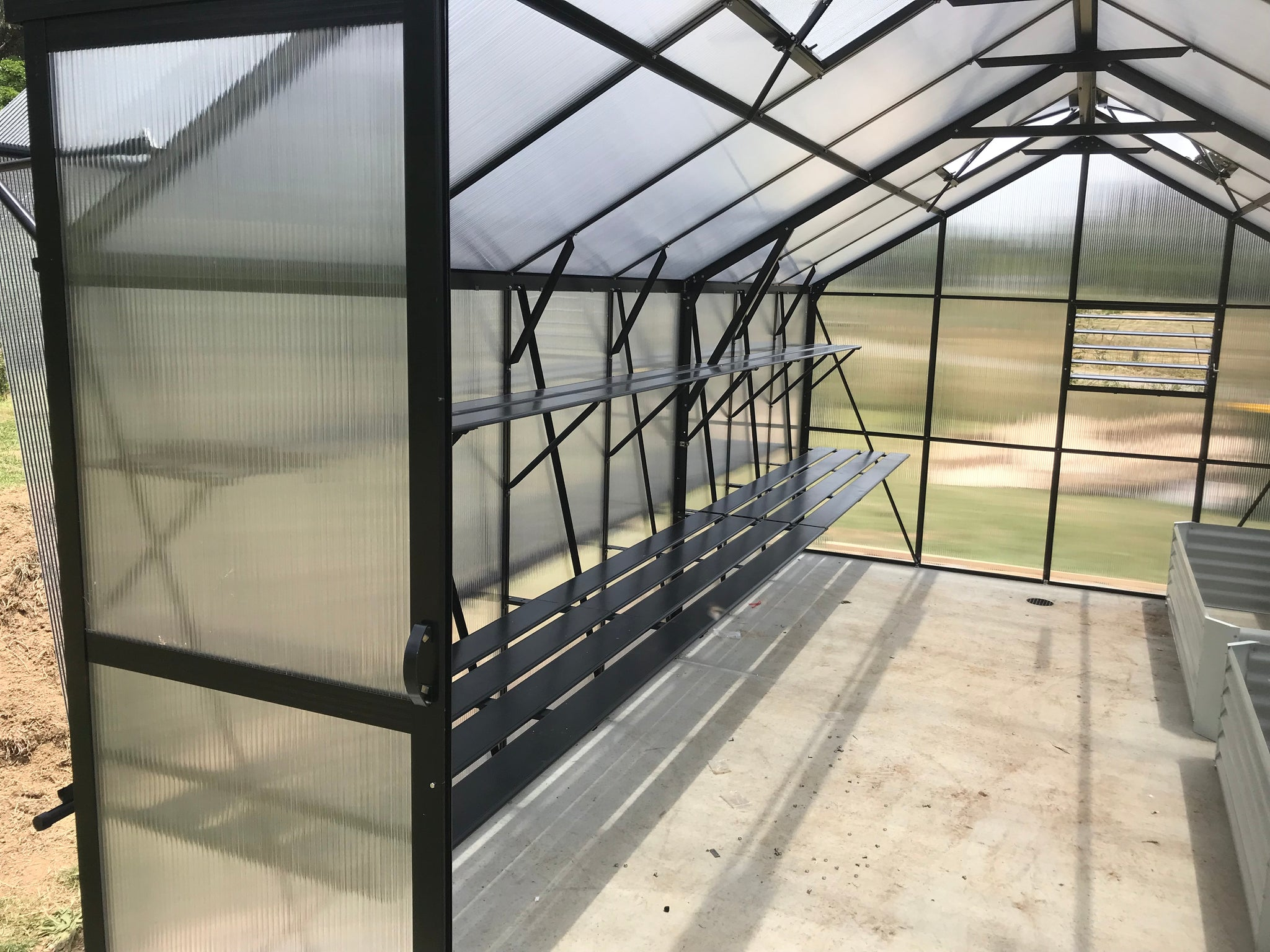 Grow-Fresh Greenhouses- Windsor Series Cantilever Shelving/Staging Kit