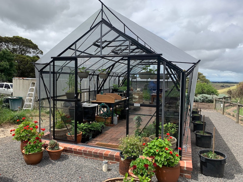 Stately Deluxe 3200 Glasshouse- 3.2Lx3.4Wx2.8Hm (10.7x11x9.2ft)