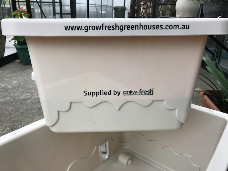 Grow-Fresh Greenhouses- GrowSmart Self Watering Wicking Pot (Cream) Pots, Tubs, Self Watering, Container, Wicking