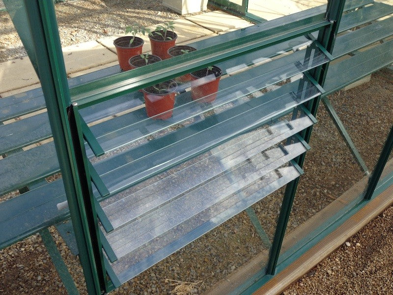 Grow-Fresh Greenhouses Stately Series Optional Glass Louvre