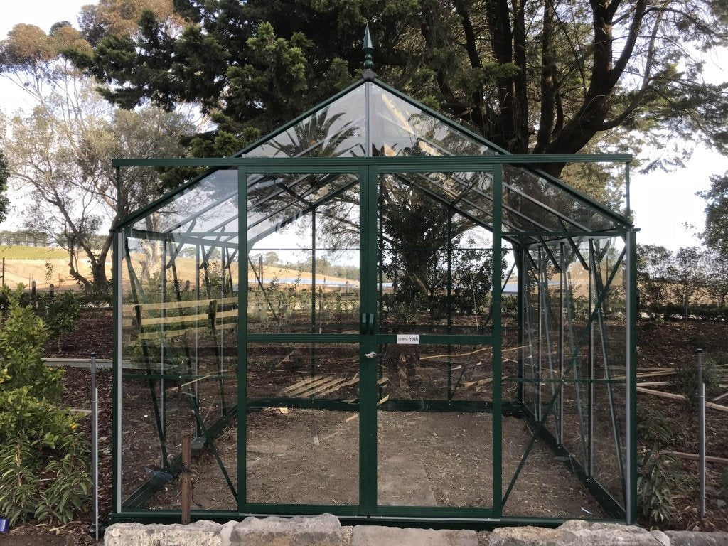 Grow-Fresh Greenhouses Windsor Junior 3000 Glasshouse (Green)