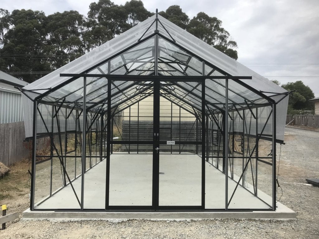 Grow-Fresh Greenhouses Windsor Royale 7300 Glasshouse (Black)