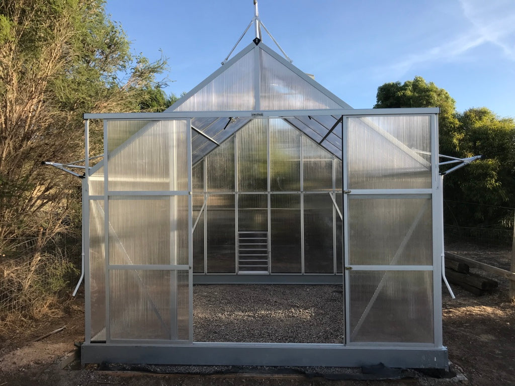 Grow-Fresh Greenhouses- Dorset Series Louvre (Silver)