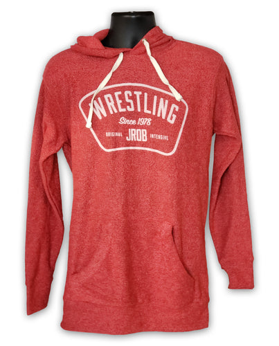 Red Hooded Wrestling Sweatshirt