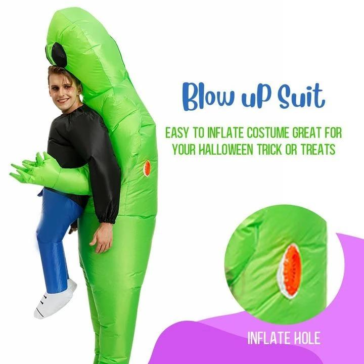 Halloween Inflatable alien costume for adults