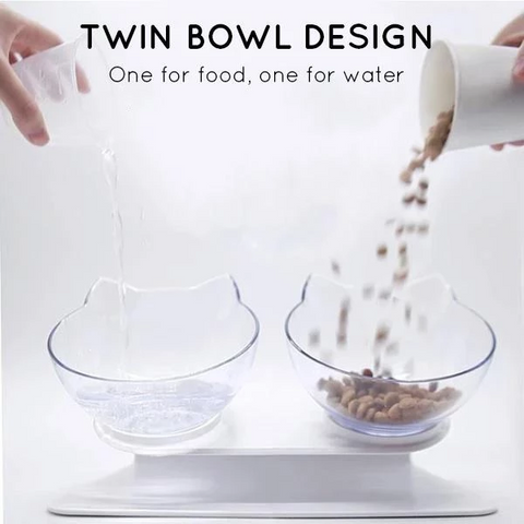 Image of Anti-Vomiting Orthopedic Cat Bowl