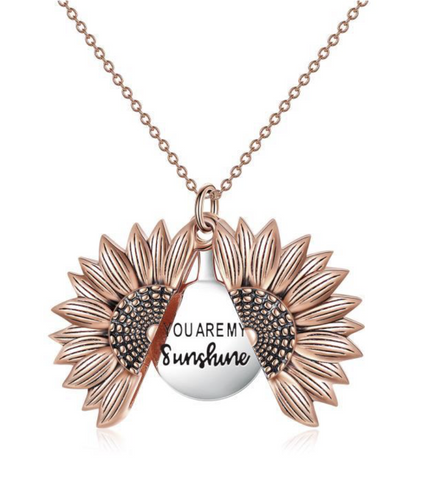 Image of You Are My Sunshine Sunflower Necklace