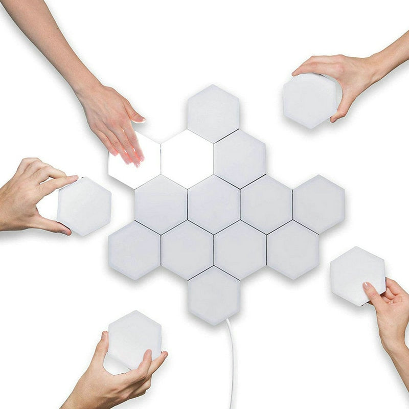 MODULAR HEXAGONAL WALL LAMPS