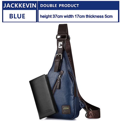 JackKevin Men's Fashion Crossbody Bag Theftproof