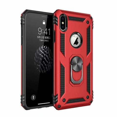 Image of Luxury Case For IPhone XS Max X XR Case Fit Soft Bumper Armour Heavy Duty Hard Stand Back Cover