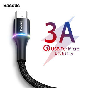 LED Lighting Micro USB Cable 3A Fast Charging Charger