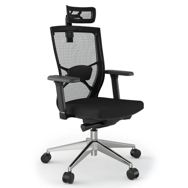 Ergonomic Office Mesh Chair in Black or White | Influence