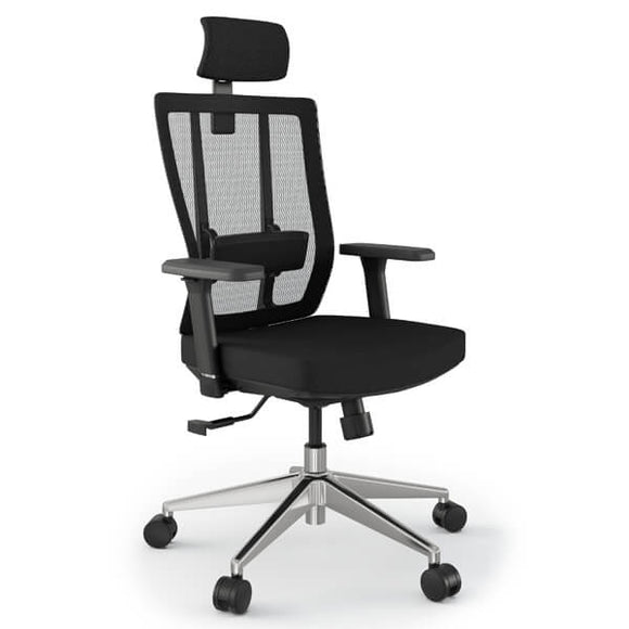 Ergonomic Stylish Office Mesh Chair in Black or White | Grace