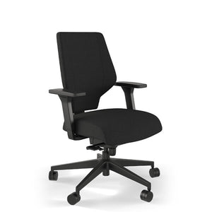 Ergonomic office chair in black fabric | Awareness
