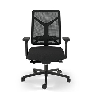 Ergonomic office chair in black mesh | Expectation