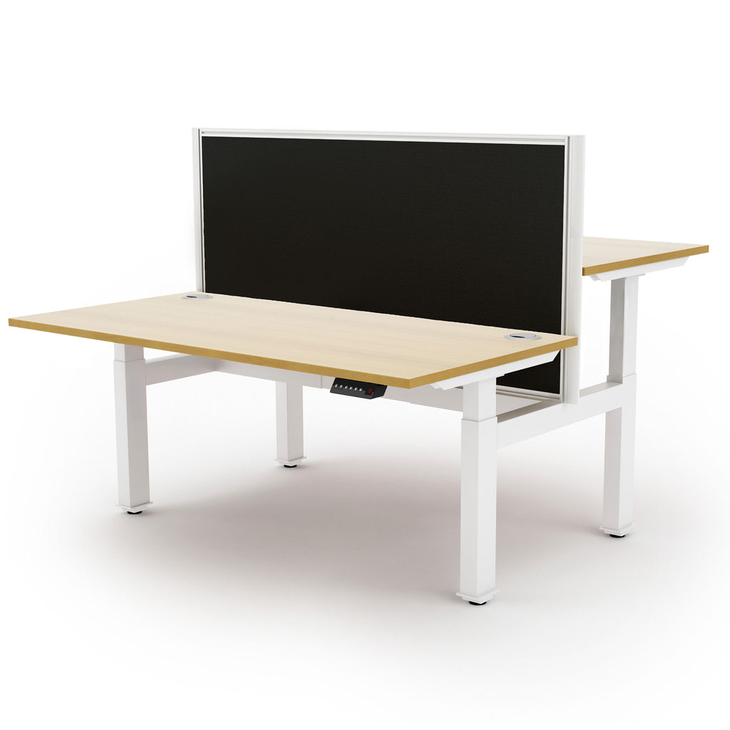 Liberty Electric Back-to-Back Sit/Stand Bench Desk