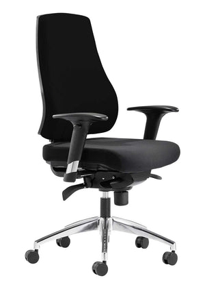 Fabric ergonomic task chair in black | Stone