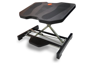 Height Adjustable and Angle Tilting Office Foot Rest in Black