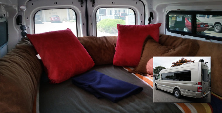 Sprinter van beds, seats and cushions