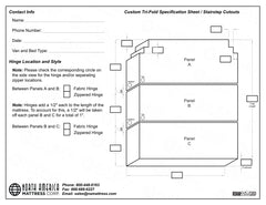 Trifold stairstep cutout template