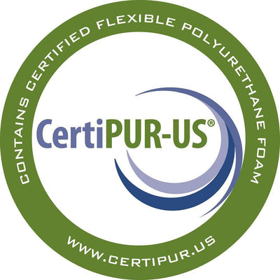 6î thick Certi-PUR-US foam provides comfortable support for individualís up to 300lbs.