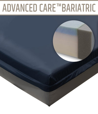Bariatric Marathon Advanced Care Hospital Bed Memory Foam Mattress - Supports up to 500/1000 lbs.
