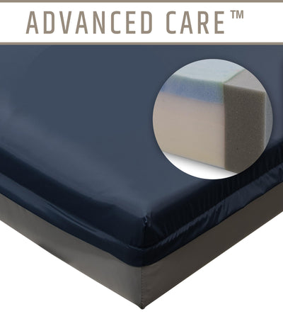 Marathon Advanced Care General Patient and ICU/CCU Hospital Bed Memory Foam Mattress