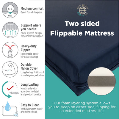 Western Road Sleeper Multi-Density Foam Truck Mattress
