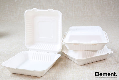 Bagasse 9 Clamshell Food Containers