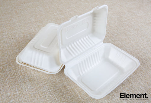 Bagasse 9X6 Clamshell Food Containers