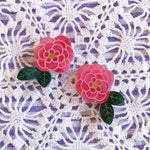 Load image into Gallery viewer, Camellia's Choice Stud Earrings
