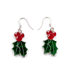 Happy Holly Drop Earrings