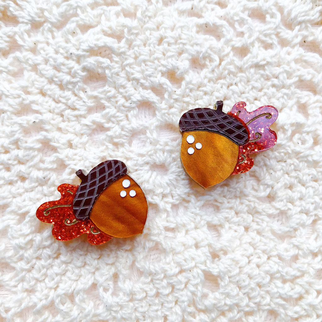 Autumn Days Leaf Stud Earrings Set