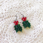 Load image into Gallery viewer, Happy Holly Drop Earrings